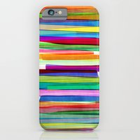 summer iPhone & iPod Cases featuring Colorful Stripes 1 by Mareike Böhmer Graphics and Photography
