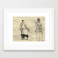 Inspection at the US Open Framed Art Print