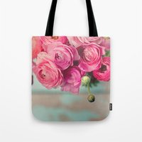 Pink Ranunculus  Tote Bag