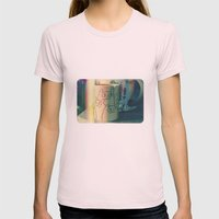 cats Womens Fitted Tee Light Pink SMALL