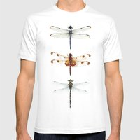 Dragonfly Collector Mens Fitted Tee White SMALL