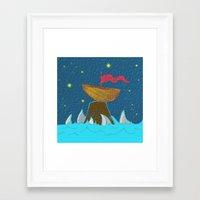Aquatic Desert Perils Framed Art Print