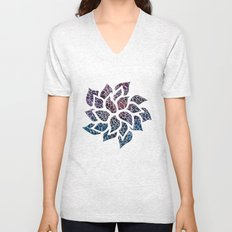Floral Abstract 21 Unisex V-Neck