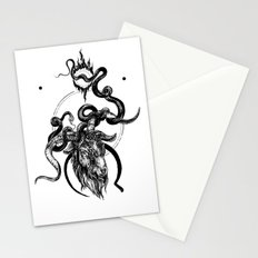 moon goat Stationery Cards