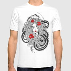 Rose. Mens Fitted Tee SMALL White