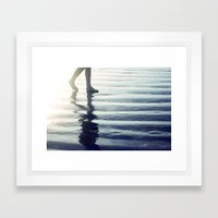 Comes and Goes in Waves Framed Art Print