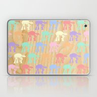 Laptop & iPad Skin featuring Pastel AT-AT's On Wood by Foreverwars