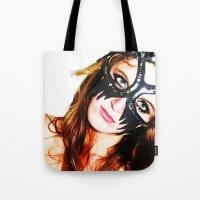 Kat mask Tote Bag