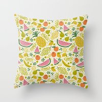 Fruit Mix Throw Pillow
