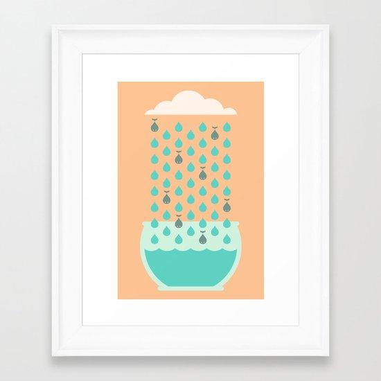 It's Raining Whales Framed Art Print