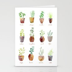 Culinary Herbs Stationery Cards