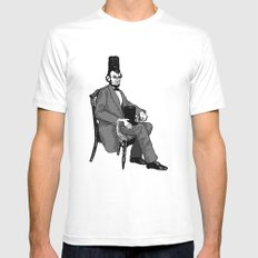 Hat Head SMALL White Mens Fitted Tee