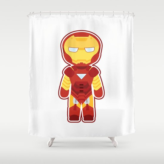 Chibi Iron Man Shower Curtain