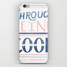 THROUGH BEING COOL iPhone & iPod Skin