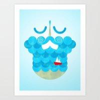 The Bearded Sea Art Print