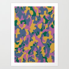 Camouflage #2 Autumn Color - Living Hell Art Print