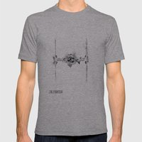 Star Wars Vehicle Tie Fighter Mens Fitted Tee Athletic Grey SMALL