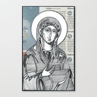 Madonna of Today's Horoscope Canvas Print