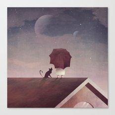 Twin Moon Canvas Print