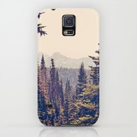 Galaxy S5 Cases featuring Mountains through the Trees by Kurt Rahn
