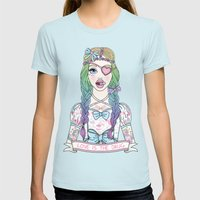 Love Is The Drug Womens Fitted Tee Light Blue SMALL
