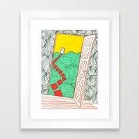 (Door) Il me semble que je serai toujours bien là où je ne suis pas… Framed Art Print