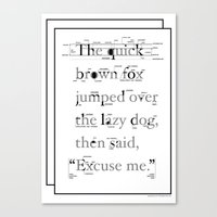 The Quick Canvas Print