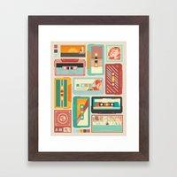 Retro AM Framed Art Print