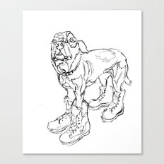 Ode to Doggie Boots Canvas Print
