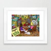 Tiki Bar Framed Art Print