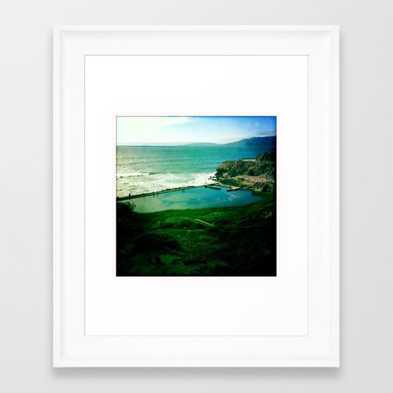 Sutro Baths Framed Art Print