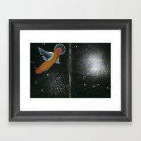 Flying Hot Dog In A Gala… Framed Art Print