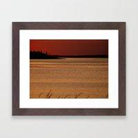 The Warm Sunset - Study # 24 Framed Art Print