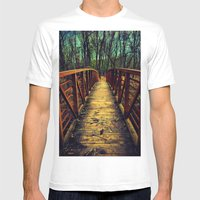 Cross The Bridge. Mens Fitted Tee White SMALL
