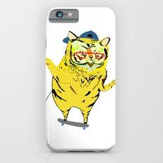 Tiger Skater. Tiger art, tiger print, illustration, pattern, skateboarding, skater, skateboard print iPhone 6 Slim Case