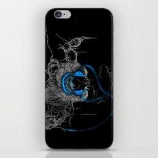 Blue Headphones iPhone & iPod Skin
