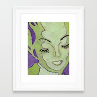 Mug Shot Green/Lares And… Framed Art Print