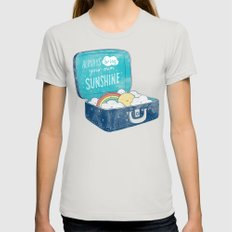 Always bring your own sunshine Womens Fitted Tee Silver SMALL