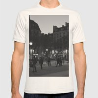 Paris Mens Fitted Tee Natural SMALL