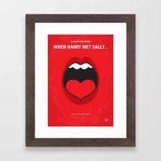 No405 My When Harry Met Sally minimal movie poster Framed Art Print