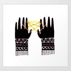Nimble Fingers Art Print