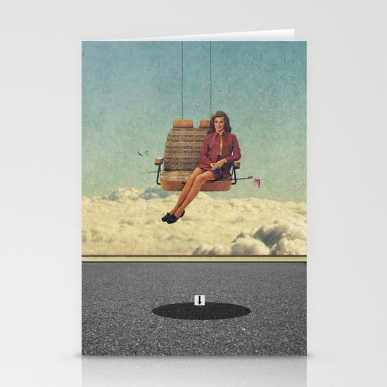 Up In The Air | Collage Stationery Card