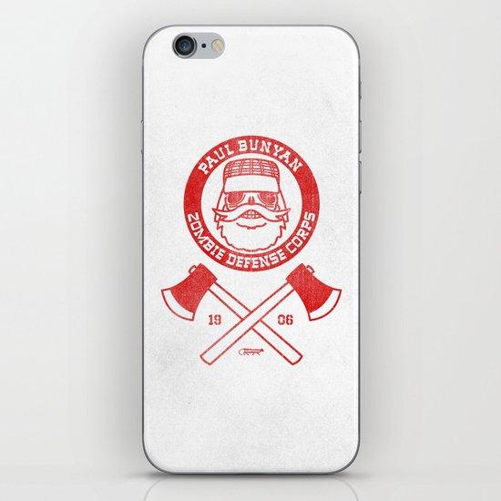Paul Bunyan Zombie Defense Corps iPhone & iPod Skin