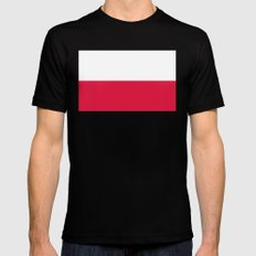 National flag of Poland Black SMALL Mens Fitted Tee