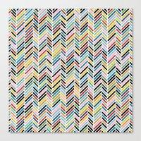 Herringbone Colour #2 Canvas Print