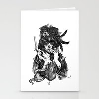 woman Stationery Cards featuring Chicana by Rudy Faber