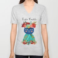 Frida Cathlo Unisex V-Neck