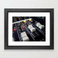 audio mixer music recorder device Framed Art Print