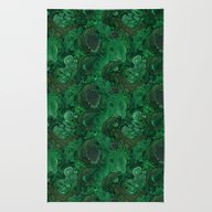 Rug featuring Malachite by Ravynka