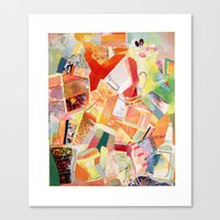 Shattered Colors Canvas Print